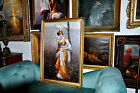 very Large vintage Salon Oil painting Museum Quality