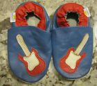 Mini Star Soft Leather Blue Red Guitar Crib Shoes Boys Size M