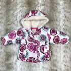 Old Navy Infant Baby Girl Winter Coat Sz 6 12 Months Pink White