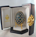 Authentic Faberge Imperial Blue Pine Cone Egg, Neiman Marcus, New In Box