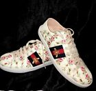 Gucci Tennis Shoe Floral Bee Collapsible Heel Size 39
