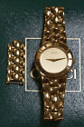 GUCCI GOLD PLATED WATCH 3300.2.L Vintage 1990's - New Battery, Original Box