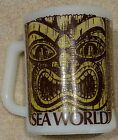 Vintage Fire King Milk Glass Sea World Tea Souvenir Coffee Mug Tiki