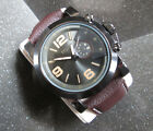 LARGE GUNMETAL GRAY MAN'S WRISTWATCH, EXCELLENT CONDITION, NEW BATTERY, NO RSRVE