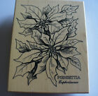 Poinsetta wood mounted rubber stamp by PSX