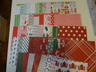 CHRISTMAS SCRAPBOOK PATTERNED PAPERS 6X6 LOT ART CARD MAKING CRAFTS
