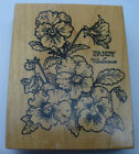 Pansy wood mounted rubber stamp by psx
