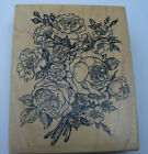 Flower Bouquet wood mounted rubber stamp by psx