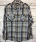Air walk Mens Dress Shirt Size S Plaid Long Sleeves Cotton Poly Button front z