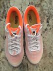 Nike Mens Size 7 White fluorescent Orange Fitsole Air Max Sneakers