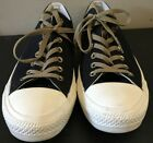 Converse All Star Low Top Black  Brown Mens Size 11 Womans 13 Felt  Canvas