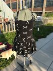 Lip Service Skull Dagger Goth Punk Rock Dress black white Large XL Rare