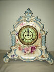 ANTIQUE ANSONIA ROYAL BONN La VERDON PORCELAIN MANTEL CLOCK PATENTED 1881 WORKS