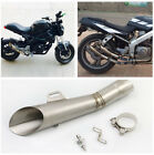 51MM Stainless Steel Muffler Pipe DB-Killer For Motorcycle Street Bike Exhaust