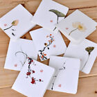 4pcs Chinese Style Flower Greeting Cards With Paper Envelope Holiday Card Random