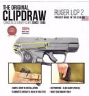 Clipdraw Belt Clip for Ruger LCP 2 II 380 IWB OWB Black - Right Mount - Holster