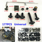 177PC Sportbike Fairing Bolt Kit Bodywork Screw Spire Screw Spring Nut Universal