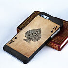 Originality Poker Spade Printing Pattern Hard Case Cover for IPhone 4 4s