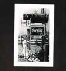 Vintage Coca-Cola Ad Sign Rppc R W Gibson Greenwood Celtic Photo Card POSTCARD