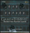 Game of Thrones Season 6 Trading Cards SEALED HOBBY BOXES - 4 box lot priority