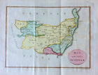 c1800 Rare Samuel Neele map SOILS OF SUFFOLK, original engraved, hand color