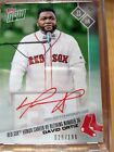 DAVID ORTIZ - 2017 TOPPS NOW #281A RETIRING NUMBER 34 - ON-CARD RED AUTO 029 199
