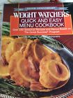 Weight Watchers  Quick and Easy Menu Cookbook by Inc Staff Weight Watchers