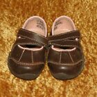 CIRCO BABY GIRLS FAUX BROWN LEATHER MARY JANES SHOES SIZE 2 EUC