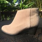 Vionic Upright Bromley Beige Suede Leather Ankle Boots Womens 8 Wide