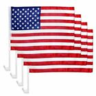 4 Pack Lot USA American Stars and Stripes Car Flag FLAGS CAR WINDOW 18 X 12