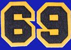 CHENILLE PATCH BLUE YELLOW GOLD NUMBER 1969 69 NOTRE DAME CAL USNA NAVY MICHIGAN