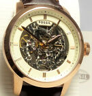 Fossil ME3078 Townsman Automatic Skeleton Dial Brown Leather Men's Watch $245