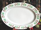 1 USED GIBSON CHRISTMAS CHARM HOLLY OVAL LARGE MEAT SERVING PLATTER 14