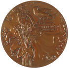 France La Fontaine's fables THE OAKTREE AND THE REED bronze 59mm by Vernon