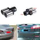 High Quality Stainless Steel Chrome Car Dual Pipe Muffler Exhaust Tail Pipe Tip