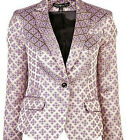 NWT ELIZABETH AND JAMES Abigail Pink Gold Tile Blazer Jacket 2 XS 495
