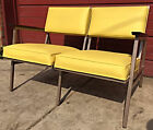 PERFECT RARE VINTAGE Retro 1950's STEELCASE COUCH MID CENTURY WOOD ARM FREE SHIP