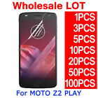 PET Soft Clear Screen Protector Film Guard For Motorola MOTO Z2 Play Droid LOT