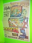 Bally Escape From The Lost World +1 NOS Pinball Machine Poster Flyer Electrocoin