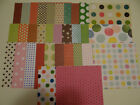 LOT SCRAPBOOK PAPER POLKA DOTS 6X6 VARIETY PATTERNED CARDS CRAFTS