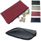 2 PACK LOT Zippered Bank Bags Deposit Purse Insert Coins Credit Cards Money