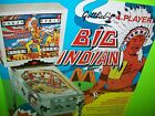 Gottlieb BIG INDIAN Original 1973 Flipper Game Pinball Machine Promo Sales Flyer