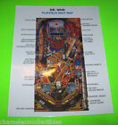 DR WHO By BALLY 1992 ORIGINAL NOS PINBALL MACHINE PLAYFIELD SHOT MAP DOCTOR WHO