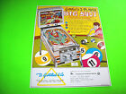 Gottlieb BIG SHOT Original 1974 Flipper CoinOp Game Pinball Machine Sales FLYER