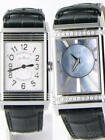 Jaeger LeCoultre Grande Reverso Silver Dial Steel Leather Ladies Watch $11600