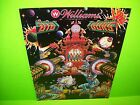 Williams BIG GUNS Original 1987 Flipper Game Pinball Machine Promo Sales Flyer