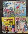 ORIGINAL VINTAGE RUPERT BEAR ANNUAL BOOKS 1973 75 BY DAILY EXPRESS + TWO OTHERS