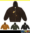 CARHARTT J130 MENS SANDSTONE DUCK ACTIVE HOOD JACKET QUILTED FLANNEL LINED M 5XL