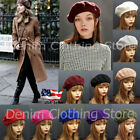 Womens Girl 100 Wool Warm Winter Baggy Classic French Fluffy Beanie Beret Hat