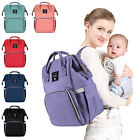 Mummy Baby Maternity Diaper Bag Nappy Changing Large Capacity Backpack US STOCK